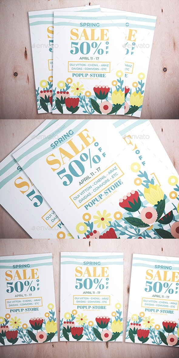 Spring Sale Flyer - Flyers Print Templates