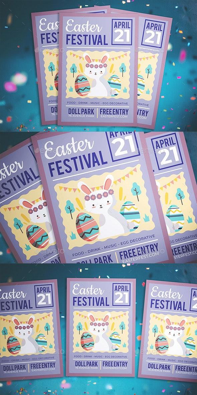 Easter Kids Festival Flyer - Flyers Print Templates