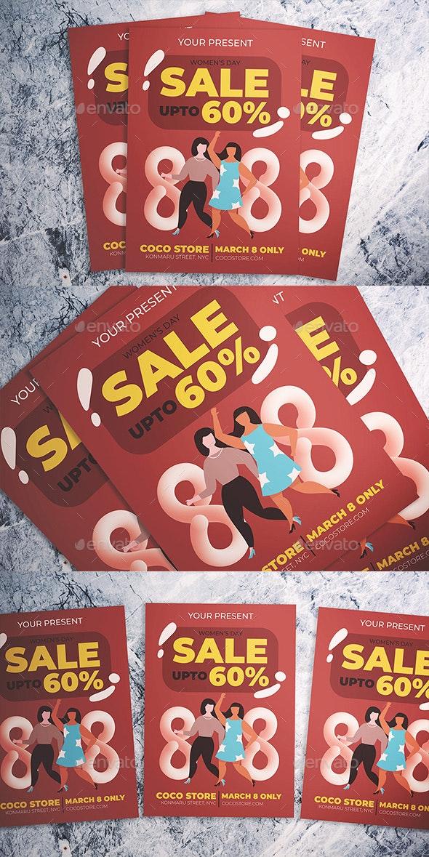 Women Day Sale Flyer - Flyers Print Templates