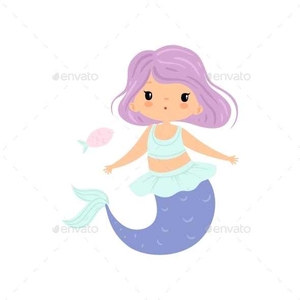 Little Mermaid with Violet Hair - People Characters
