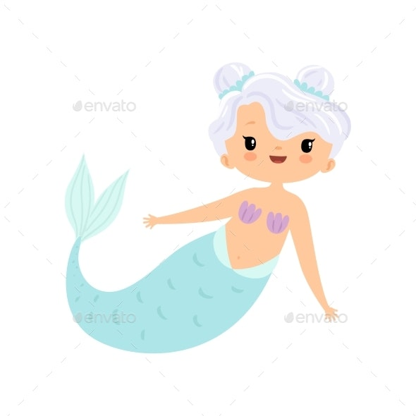 Mermaid with White Hair - People Characters