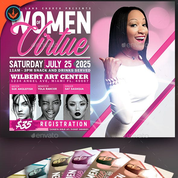 Women of Virtue Conference Flyer Template