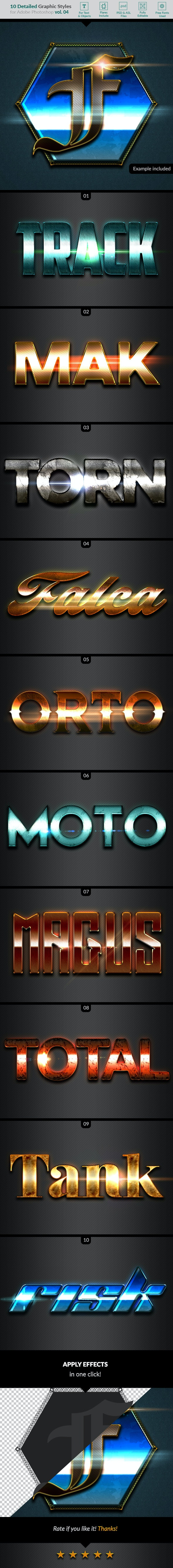 10 Text Effects Vol. 04 - Text Effects Styles