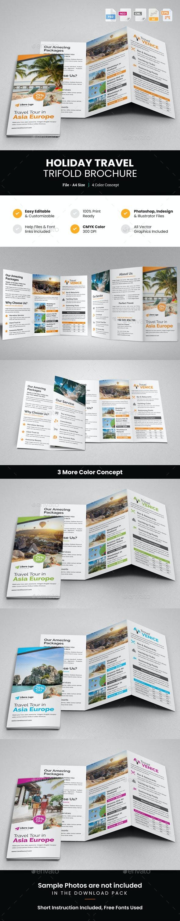 Travel Resort Trifold Brochure Design v4 - Corporate Brochures