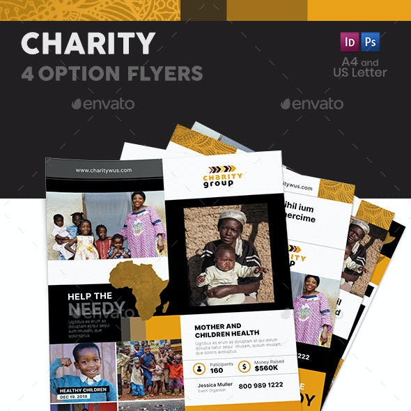 Charity Flyers – 4 Options