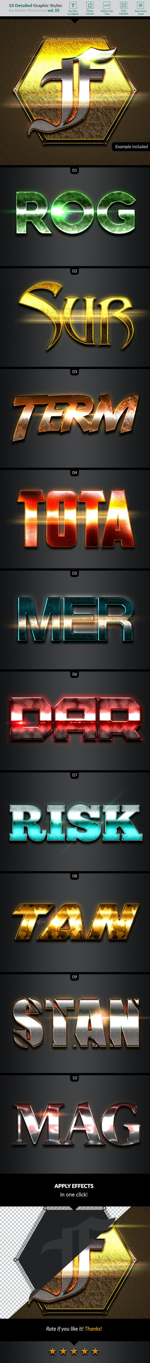 10 Text Effects Vol. 05 - Text Effects Styles