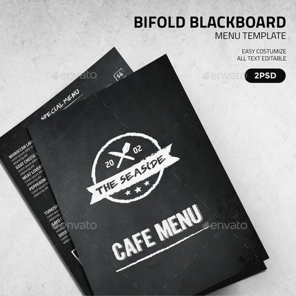 BiFold Blackboard Menu Template