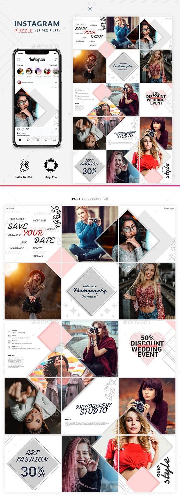 Instagram Puzzle - Social Media Web Elements