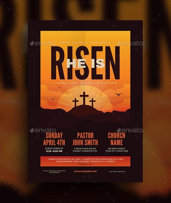 He is Risen Church Flyer - Church Flyers