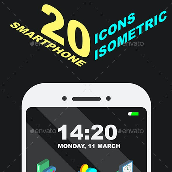 20 Icons Isometric for Smartphone