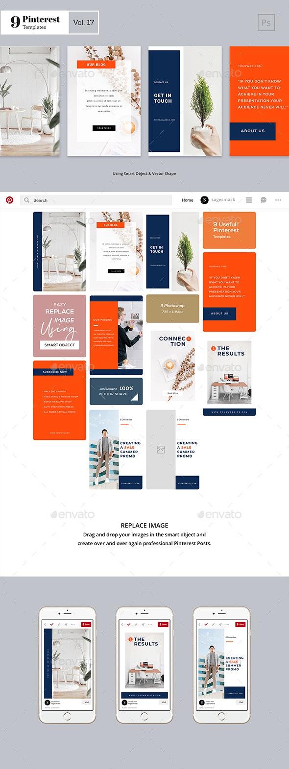 Pinterest Templates Vol. 17 - Social Media Web Elements