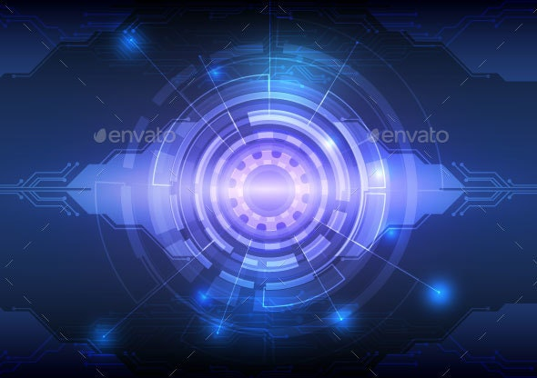 Abstract Background Digital Technology Concept Vector Illustration - Computers Technology
