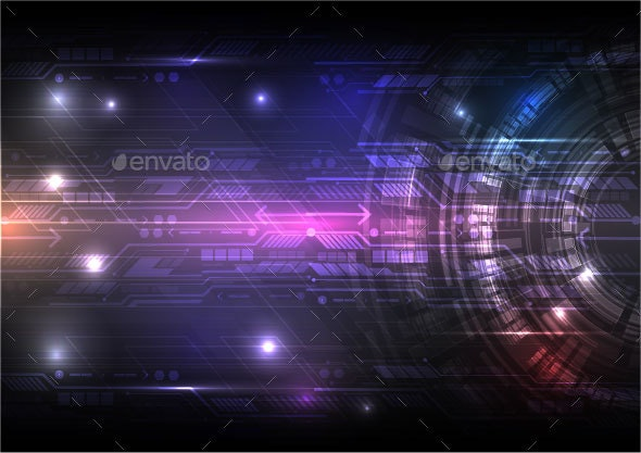 Digital Technology Abstract Background Concept Vector Illustration - Backgrounds Decorative