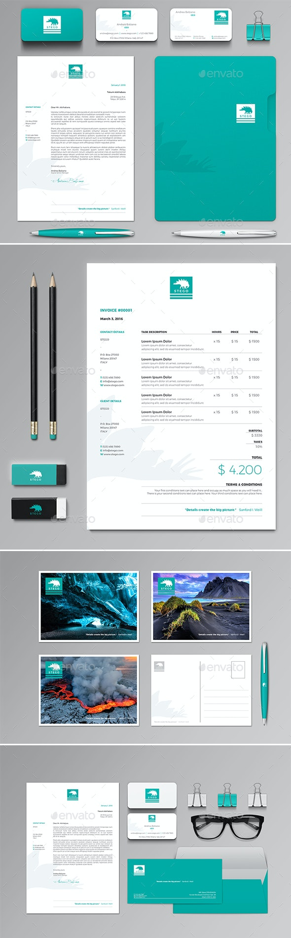 Stego Stationery Set & Invoice Template - Proposals & Invoices Stationery