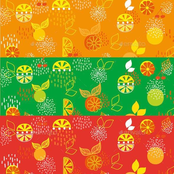 Background Lemon and Orange