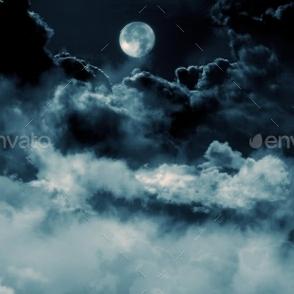 Clouds with Moon Backgrounds