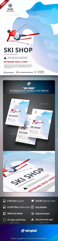 Ski Shop Business Flyer - Commerce Flyers