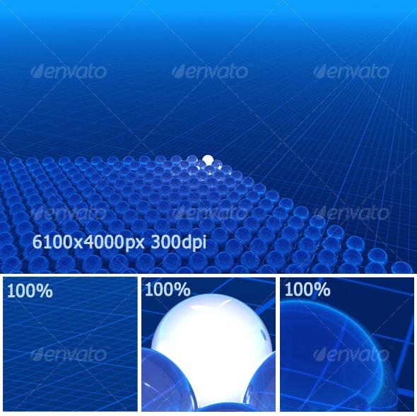 blue 3D background - 3D Backgrounds