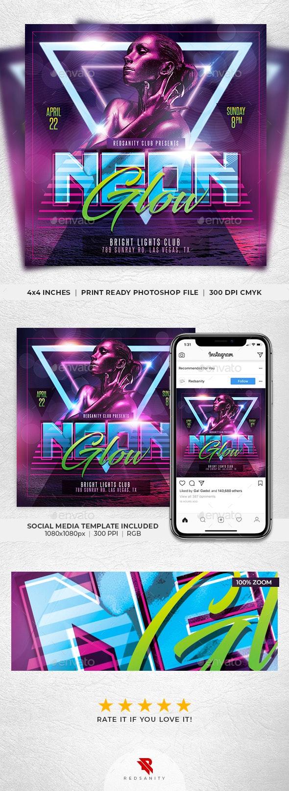 Neon Glow Flyer - Clubs & Parties Events
