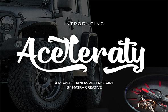 Aceleraty - Fonts