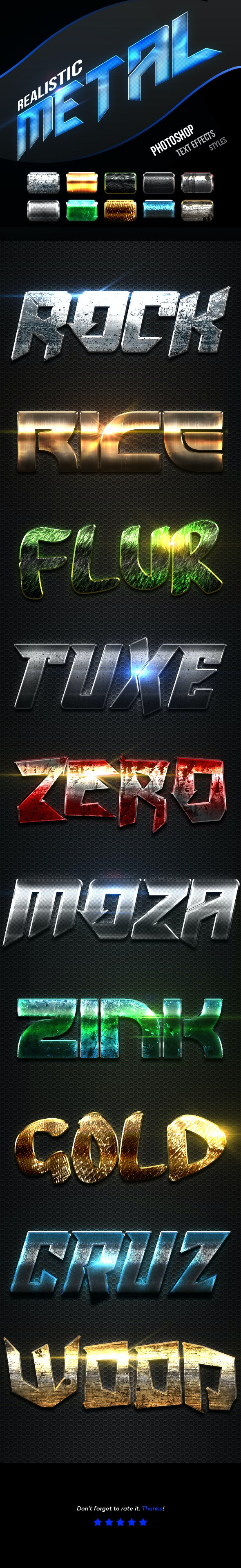 Realistic Metal Text Effects Vol.1 - Text Effects Actions