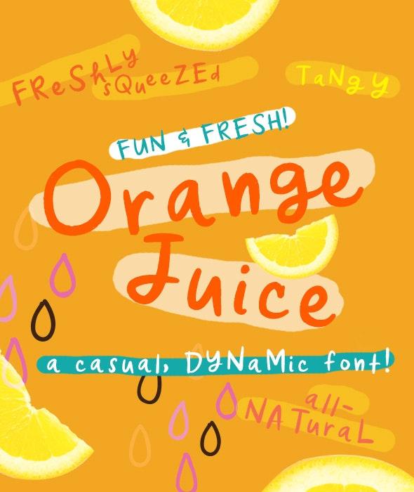 Orange Juice Font - Handwriting Fonts