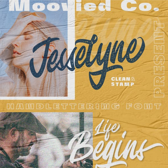 Jesselyne Script (Clean & Rough)