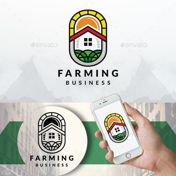 Farming House Emblem Logo