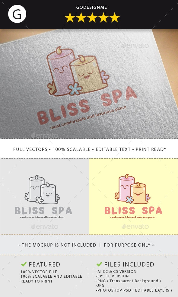 Bliss Spa Logo Design - Vector Abstract