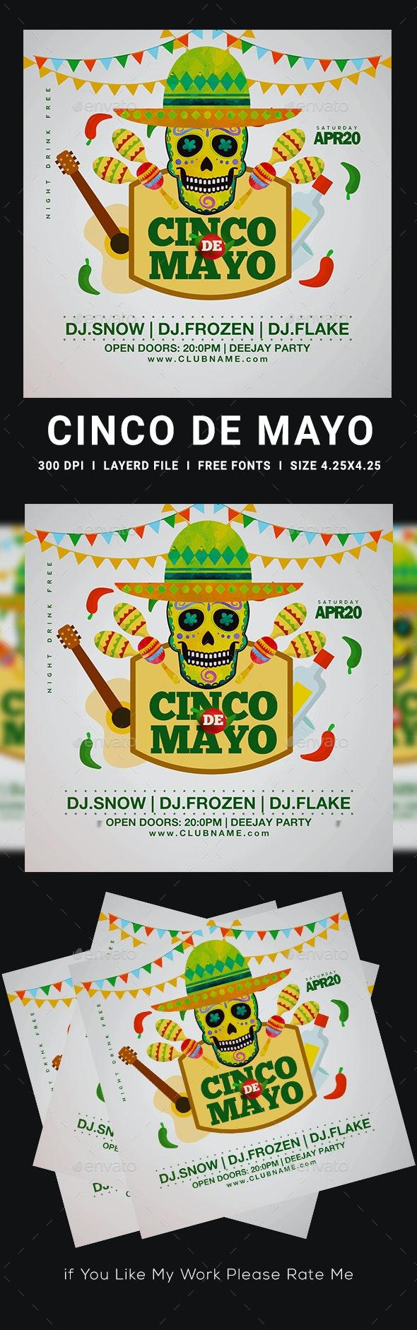 Cinco De Mayo Flyer - Clubs & Parties Events