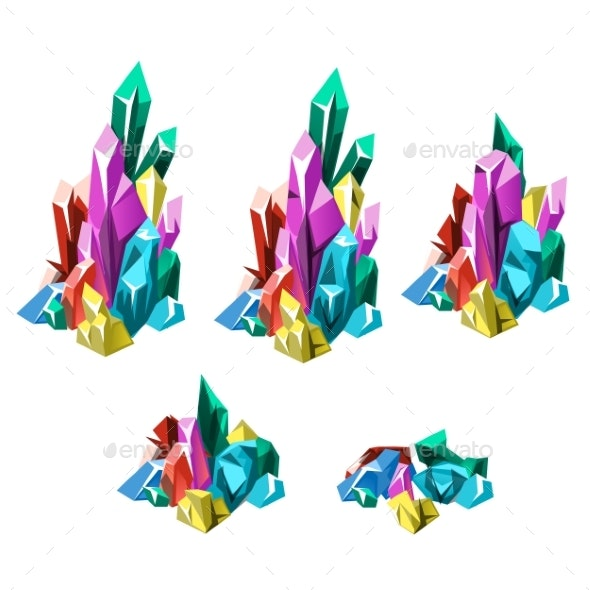 Stages of Formation of Multicolored Crystalline - Organic Objects Objects