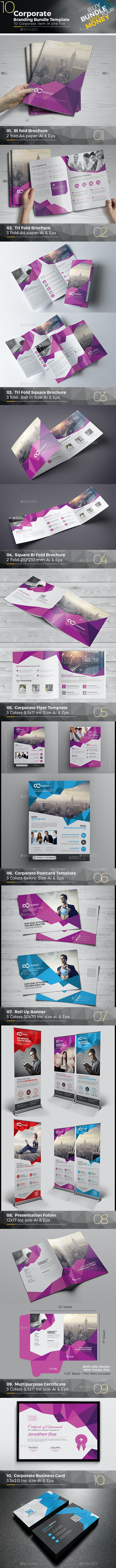 Abstract Mega Branding Bundle - Brochures Print Templates