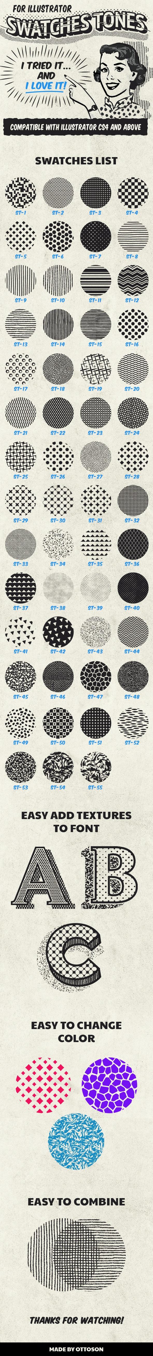 Swatches Tones - Textures / Fills / Patterns Illustrator