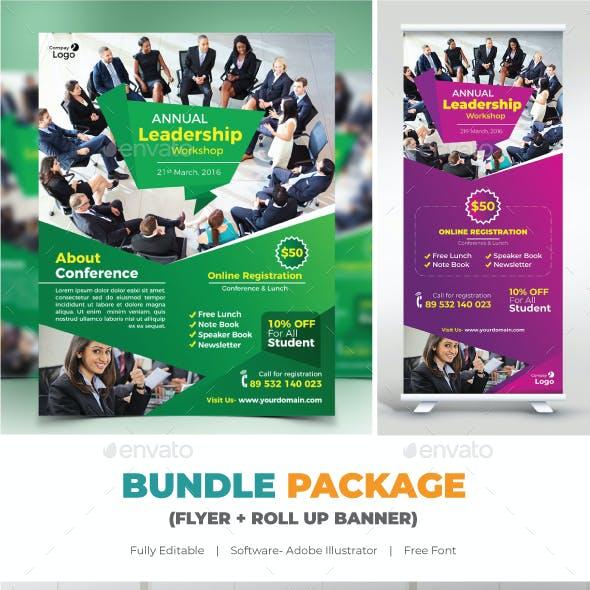 Conference Bundle (Flyer+Roll Up)