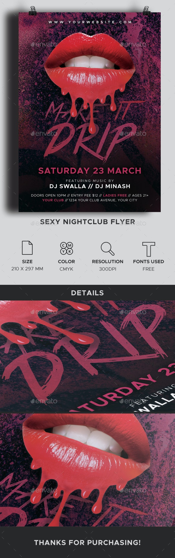 Sexy Nightclub Flyer - Clubs & Parties Events