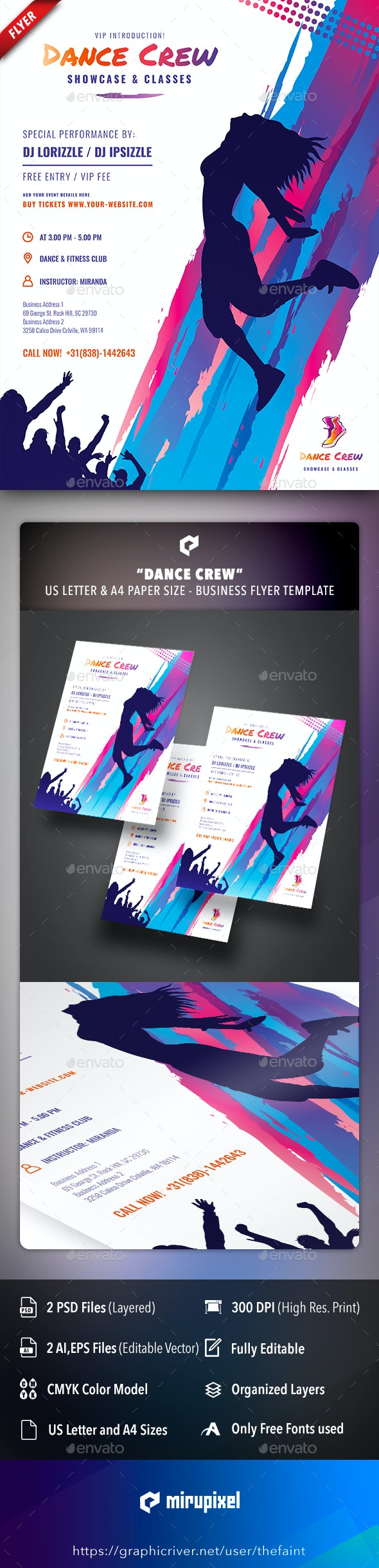 Dance Crew Business Flyer - Commerce Flyers