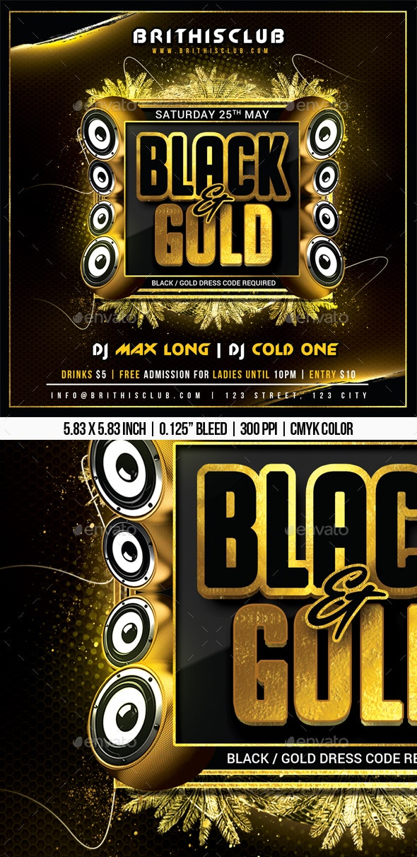 Black And Gold - Clubs & Parties Events