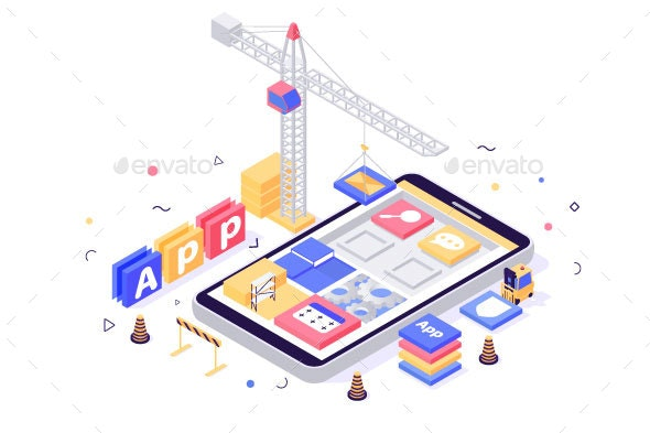 Isometric Build Mobile Application with Search - Technology Conceptual