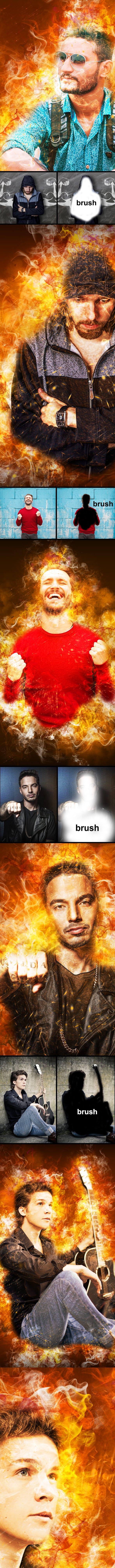 Скачать [Graphicriver] Amazing Flame Photoshop Action (2019), Отзывы Складчик » Архив Складчин