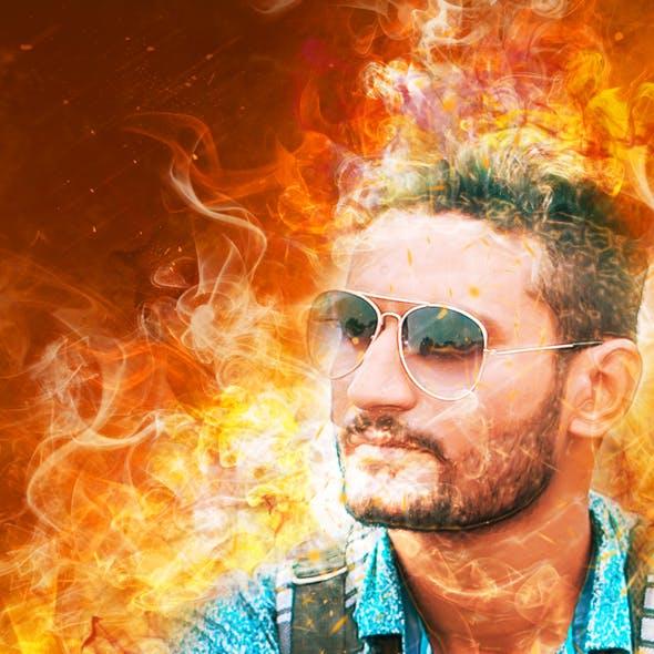 Amazing Flame Photoshop Action