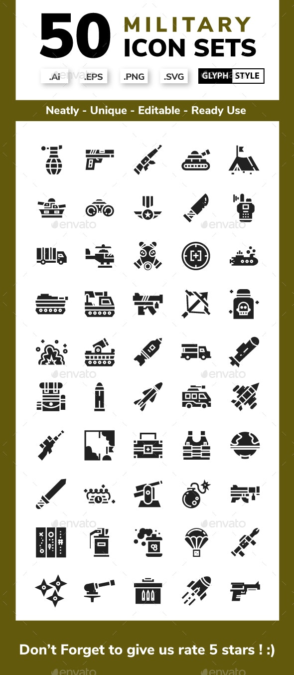 Military - Glyph - Miscellaneous Icons