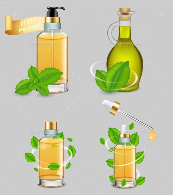 Peppermint Essential Oil Set - Health/Medicine Conceptual