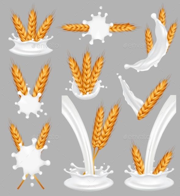 Rice Milk Splash Set - Food Objects