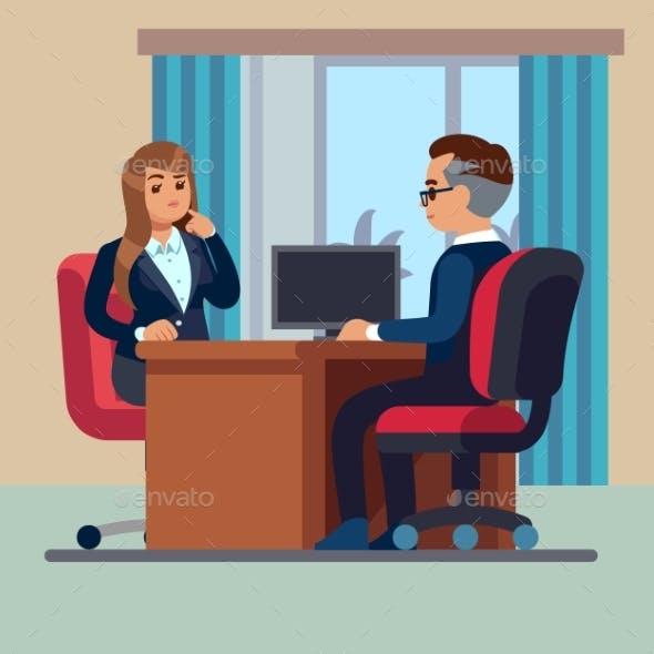 Business Office Conversation