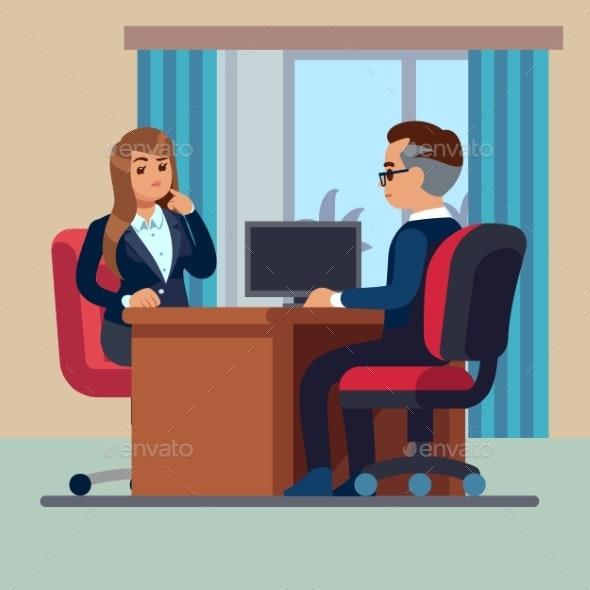Business Office Conversation - Concepts Business