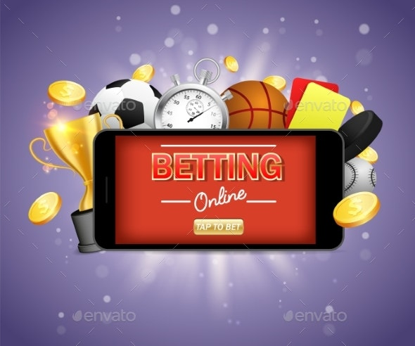 Online Sports Betting Vector Poster Banner Design - Industries Business