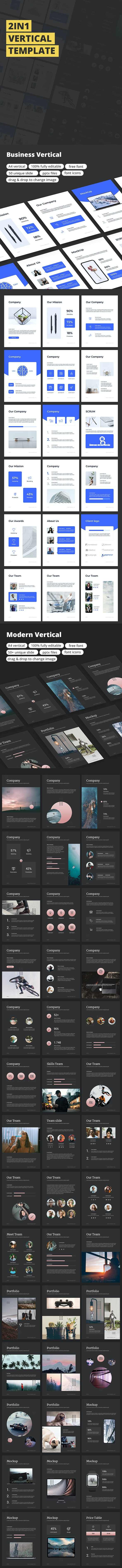 2in1 Vertical Template - Business PowerPoint Templates