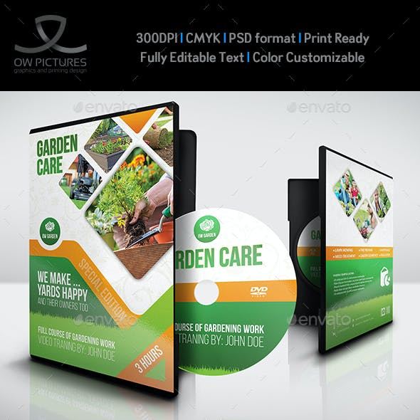 Garden Care DVD Cover and Label Template