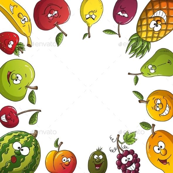 Fresh Fruit Frame - Food Objects