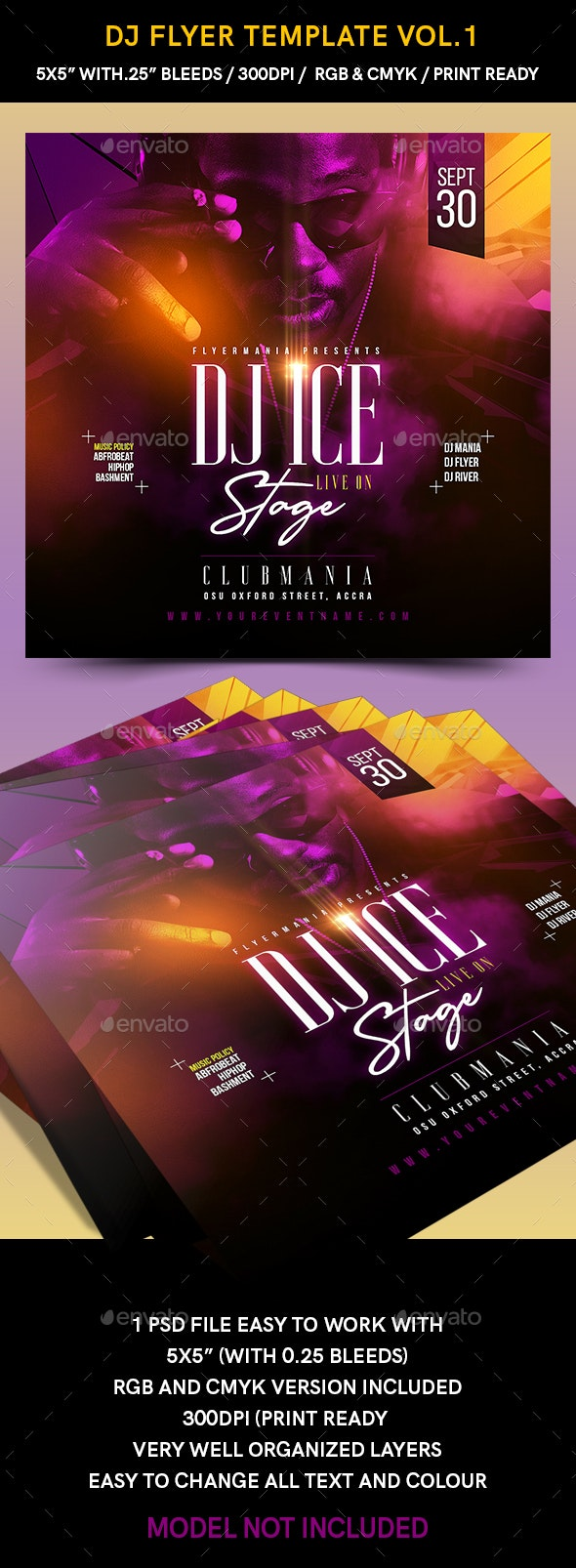 DJ Flyer Template Vol.1 - Flyers Print Templates